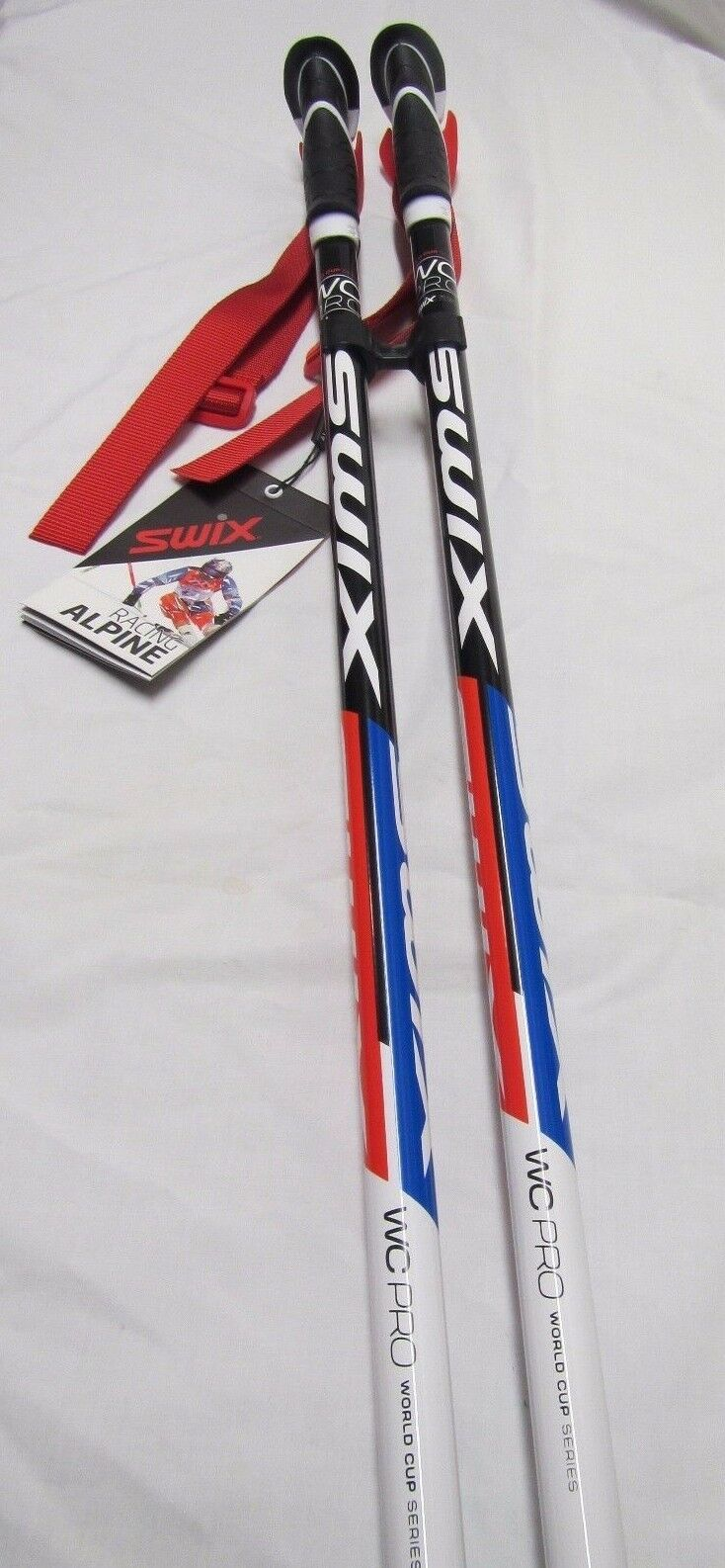 SWIX WORLD CUP SKI RACING POLES SLALOM 110 CM 44 INCHES - 130 CM 52 INCHES