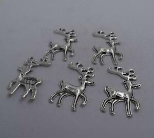 6//20//100pcs Antique Silver Lovely Sika Deer Jewelry Craft Charms Pendant 36x21mm