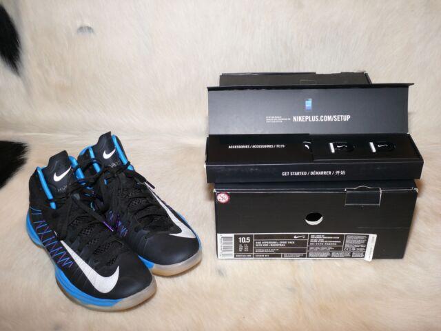 buy online 05d48 5f100 NIKE ZOOM HYPERDUNK SPORTPACK BLACK METALLIC SILVER-BLUE GLOW US MEN S SZ  10.5