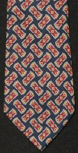 Gucci-Made-in-Italy-Navy-Silk-Tie-with-Stirrup-Print-Beautiful-57-034-x-3-25-034