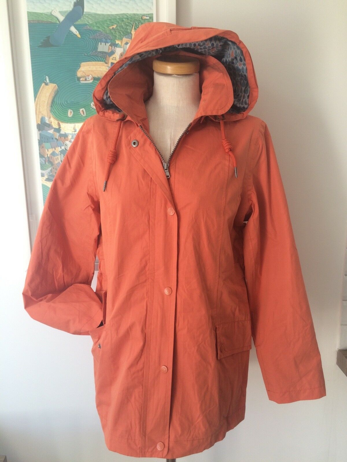 Seasalt Fairweather Veste-Flamme Orange-UK10 EU38-Vente échantillon sauver
