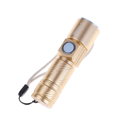 Zoomable Usb Rechargeable Ultra Bright Waterproof Led Torch Flashlight LLA