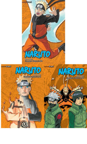 Vol.19-21 Collection 3 Books Set NEW 3-in-1 Edition Masashi Kishimoto Naruto