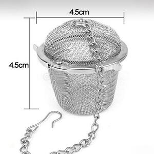 Diameter 4.5cm Reusable Stainless Mesh Herbal Ball Tea Spice Strainer Teakettle