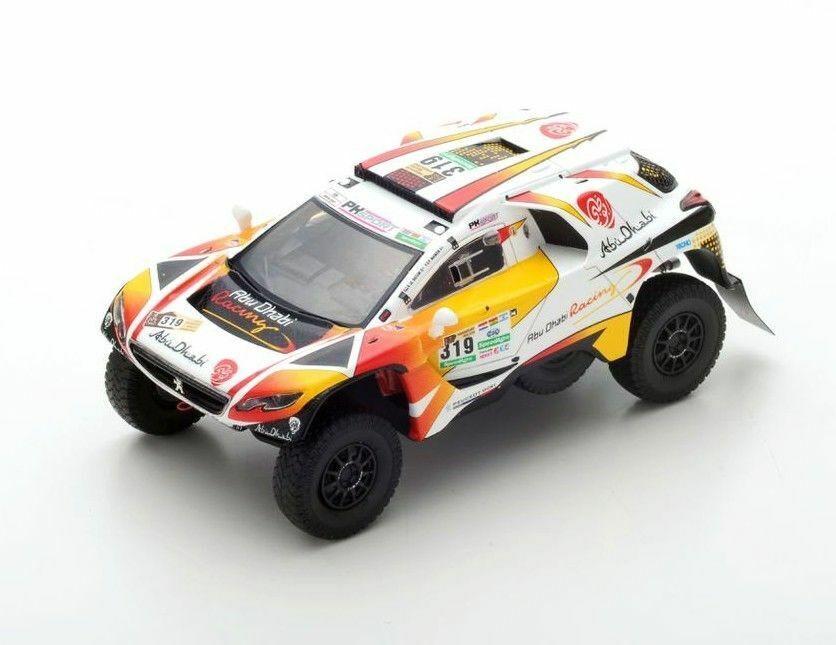PEUGEOT 2008 DKR No.319 Dakar 2017 S-K. Al Qassimi maimom S5618 Spark 1 43
