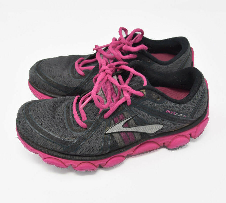 Brooks Women's Sz 7 B PureFlow Pink Athletic Running Hiking Trail shoes