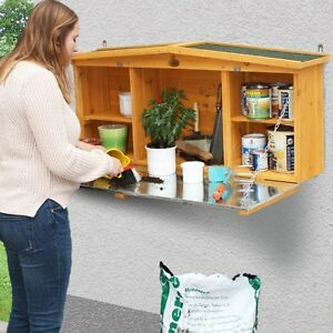 Image Is Loading Outdoor Wall Shed Garden Storage Unit Small Wooden
