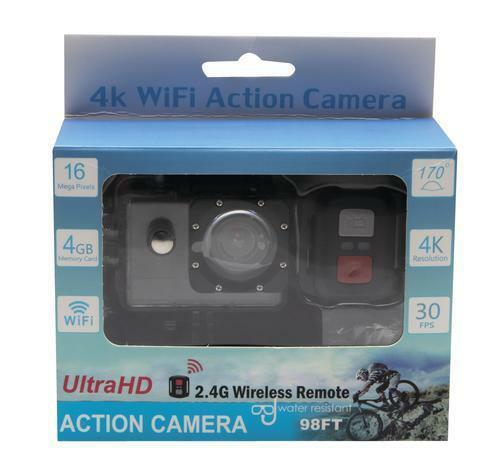 Sports Camera 4K Ultra HD 98FT Waterproof WiFi Action Video Cam 2 Inch LCD Scr.. Featured