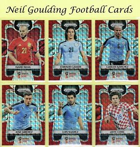 Panini-PRIZM-World-Cup-2018-RED-MOSAIC-PARALLEL-Cards-201-to-300