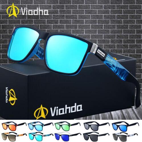 VIAHDA Men Polarized Sport Sunglasses Outdoor Driving Fishing Square Glasses Hot