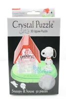 3d Diy Crystal Puzzle Jigsaw 50 Pieces Kid Toy Model Figure- Snoopy W/ House _us