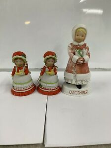 Vintage 1982 Holly Hobbie Christmas joy bell by forget me not American greetings porcelain