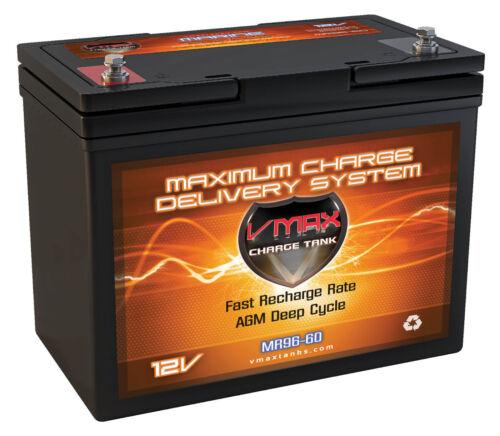 VMAX MR96-60 12V 60Ah AGM Deep Cycle Marine Battery for 40lb Thrust Trolling Mtr