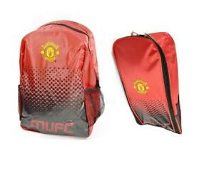 Boys-Official-Man-United-Backpack-Boot-Bag-Sports-MUFC
