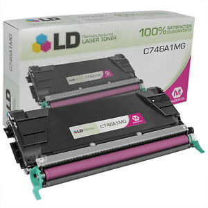 LD-Remanufactured-Lexmark-C746A1MG-Magenta-Toner-for-C746-C748-Printer-Series