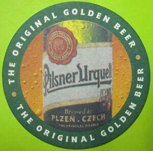 NEW-UNUSED PILSNER URQUELL CZECH BEER 0416 COASTER BEER MAT