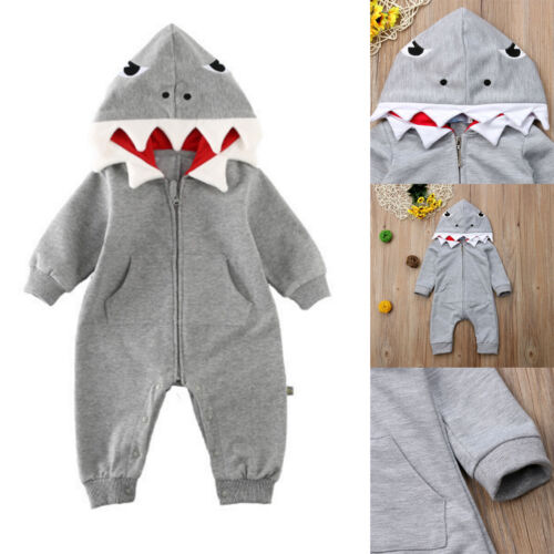 Newborn Baby Boy Girl Cute Romper Bodysuit Jumpsuit Playsuit Outfits Clothes UK