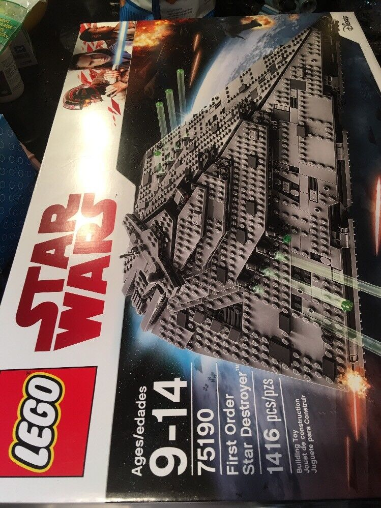 Lego 75190 Star Wars First Order Star Destroyer Brand New Factory Sealed Box