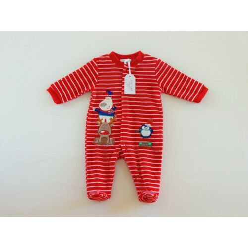 Baby velour Christmas Winter Wonderland all-on-one//babygrow//outfit