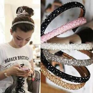 Women-Girls-Bling-Rhinestone-Crystal-Headband-Head-Piece-Alice-Hair-Band-Jewelry