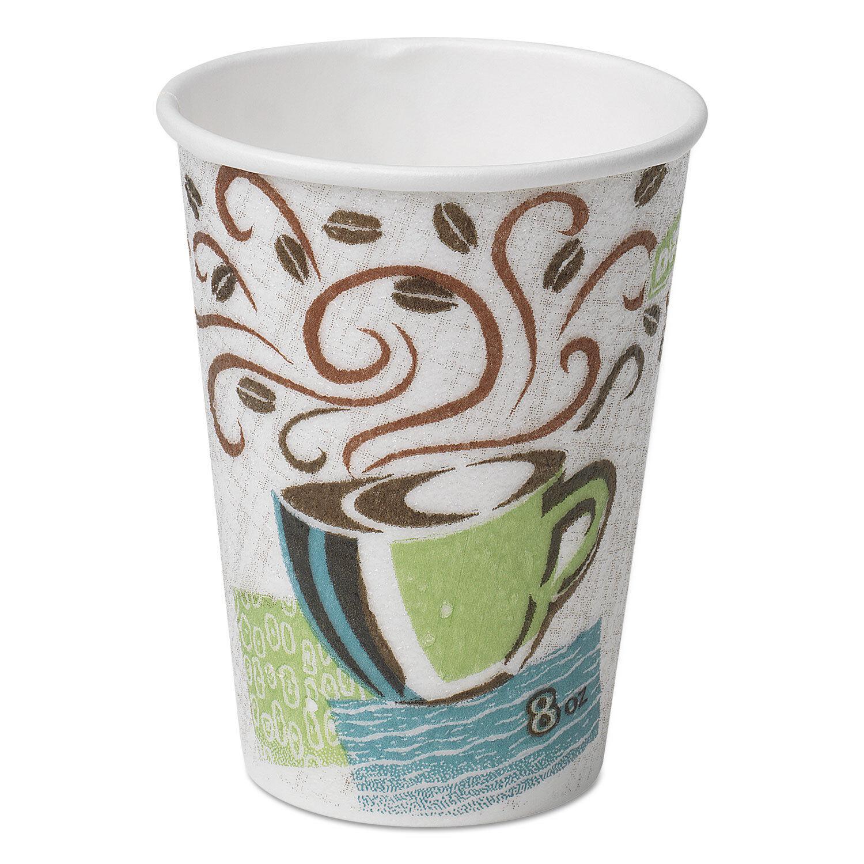 Dixie Hot coupes Paper 8 oz (environ 226.79 g) Café Dreams Design 500 voitureton 5338DX