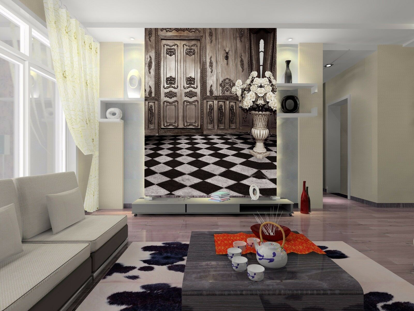 3D Room Adorn 4052 Wallpaper Murals Wall Print Wall Mural AJ WALLPAPER UK Lemon