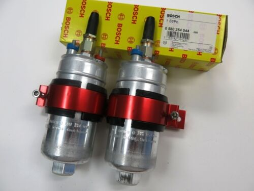 """Bosch 044 Dual Fuel Pumps with Double Mounting Bracket /""""GENUINE/"""" !"""