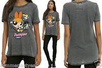 Powerpuff Girls Trio Distressed punch T-shirt For Juniors Free Ship