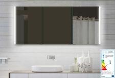 Bad Badezimmer Spiegelschrank LED Licht mit Alu Rahmen und ...