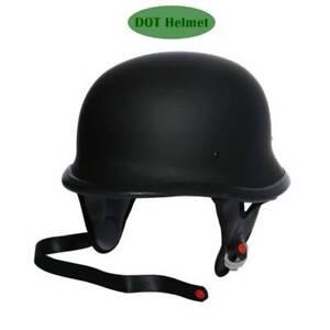 DOT-Matte-Blk-Adult-German-Half-Face-Riding-Helmet-Chopper-Cruiser-bobber-M-L-XL
