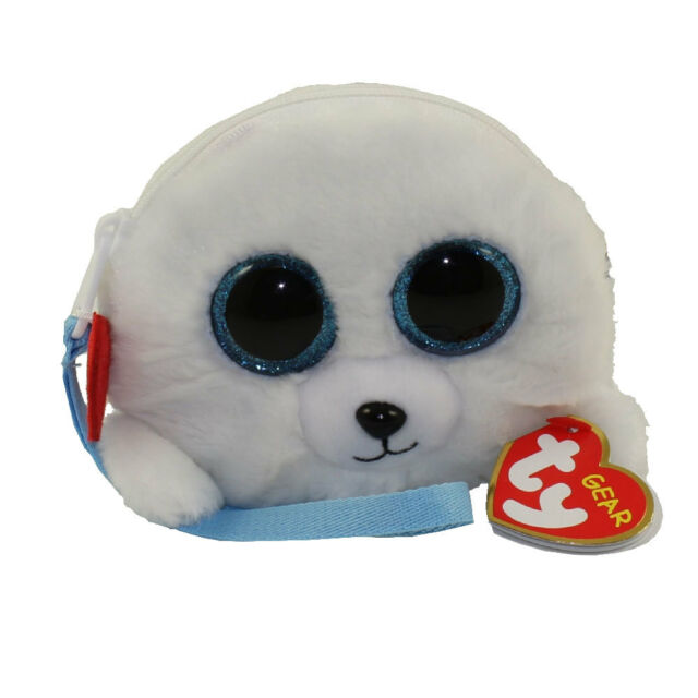 - MWMTs New Plush Toy ICY the Seal 5 inch TY Gear Wristlet