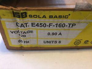 6 Pack New Sola Basic ISB Ballast E450-F-160-TP 120V 0.90 A
