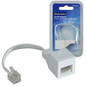 How To Attach Phone Plug To Wire: UKDJ RJ11 4 Wire to UK BT Telephone Socket US Plug Adapter 6P4C 10cm rh:ebay.co.uk,Design