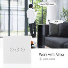 3 gang 1 way wifi smart switch touch work with amazon alexa voice control new