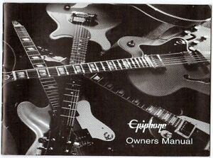 EPIPHONE-Guitar-Owners-Manual-Good-Condition