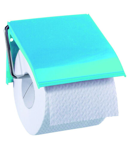 Retro Metal Blue Wall Mounted Toilet Roll Holder