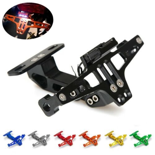 CNC LED Light Rear License Plate Mount Holder with For Suzuki GSXR600//750//1000