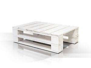 PALETTI DUO 60x90 Cm Couchtisch Wohnzimmertisch Tisch Palettentisch