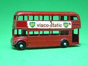 Matchbox-Lesney-No-5c-AEC-London-Routemaster-Bus-BLACK-PLASTIC-WHEELS