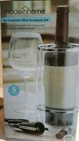 Wine Accessories Chilling Bucket, Foil Cutter, Stopper, Pour Spout , Cork Screw