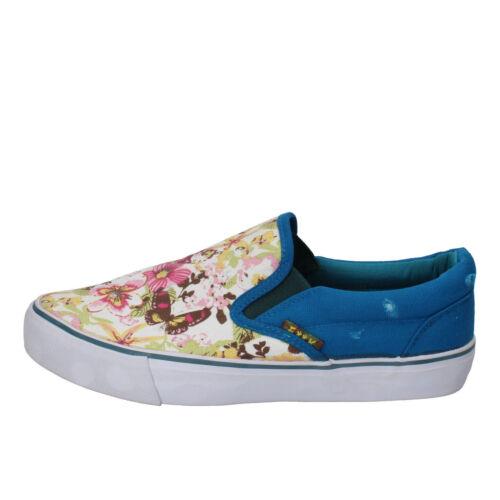 grigio tigrato F**K PROJECT scarpe donna slip on mocassino tessuto blu a fiori