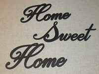 Home Sweet Home Black Script Wood Wall Words Art Accents Decor