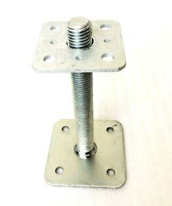 MONTANTE-Supporto-regolabile-in-altezza-m24x200-deckpl-80x80-grundp-110x110-stutzenfus