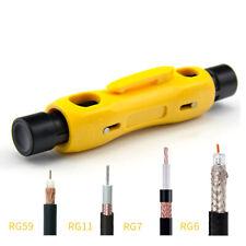 Dual Coaxial Cable Stripper Tool Two Stage Stripping Rg 59 Rg 6 Rg 6q Rg 7 Rg 11