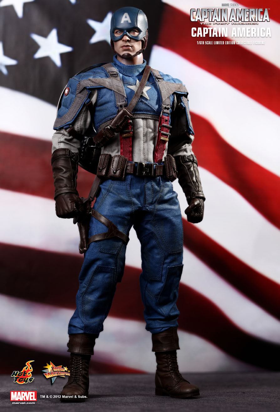 Hot Toys 16 Marvel Capitán América mms156 El Primer Vengador Steve Rogers Figura