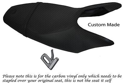 CARBON FIBRE VINYL CUSTOM FITS KTM SUPERDUKE 990 05-12 DUAL VINYL SEAT COVER