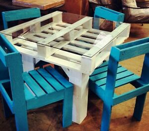 Tavolo in legno con pallet bancali eur epal arredamento for Arredamento con bancali legno