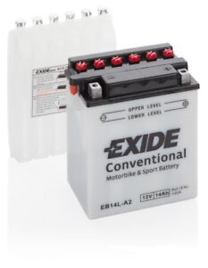 batterie moto exide yb14l a2 eb14l a2 12v 14ah 180a 135x90x165mm acide compris ebay. Black Bedroom Furniture Sets. Home Design Ideas