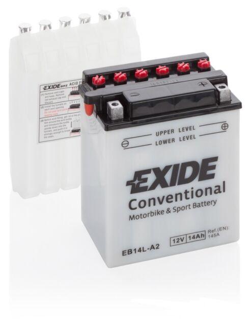 Batteria moto Exide YB14L-A2 EB14L-A2 12V 14AH 180A 135X90X165MM ACIDO INCLUSO