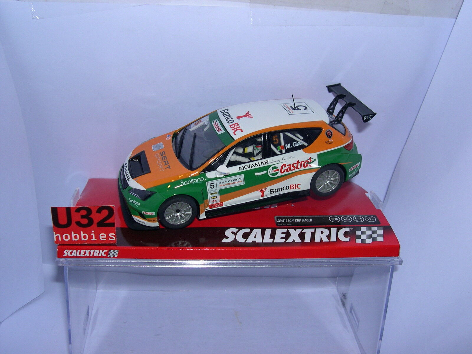 SCALEXTRIC A10205S300 SEAT LÖWE  5 EUROCUP EUROCUP EUROCUP CASTROL M.GIAO MB edc694
